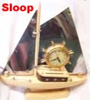 United Metal Goods Sloop clock