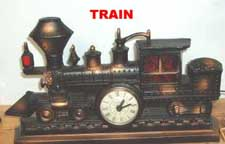 United Metal Goods Steam Train Clock