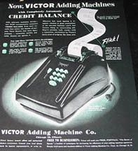 Victor Adding Machine Advertisement