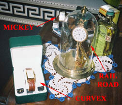 Watches - Hamilton Railroad, Gruen Curvex, Mickey Mouse