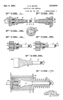 Watts Electrical Plug Patent No. 1,918,070