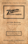 Zenith 12S267 manual Download