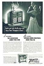 1948 Advertisement for the Zenith 9H881