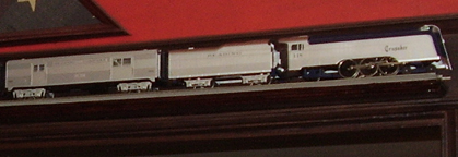 Model of the Reading Crusader Streamlined Train