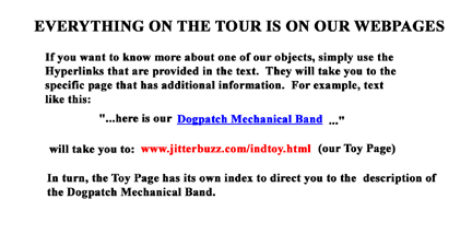 Detailed information on individual items is available through Hyperlinks