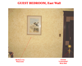 Guest Bedroom East Wall