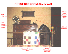 Guest Bedroom South Wall