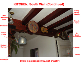 Kitchen South Wall Continued