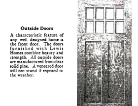 Lewis Catalogue page with Front Door