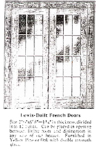 Lewis Catalogue page with French Doors