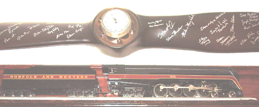 Model of the N&W No. 611 Locomotive in the Office
