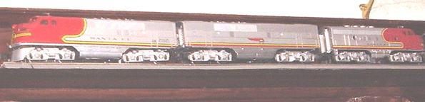 Model of the ATSF Super Chief in the Office