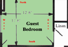 Guest Bedroom Map