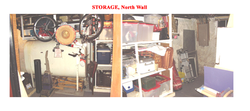 Basement Storage Area North Wall