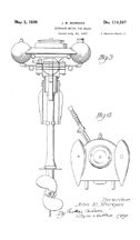 Sears Water Witch Outboard Motor  Design Patent D - 114,597