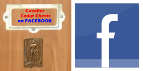 Cavalier Cedar Chests Facebook Signup Button
