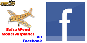 Balsa Model Airplanes  facebook signup graphic