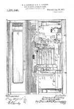 Automatic Player Piano Patent No.  1,071,640