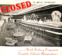 Seeburg ad - closed to jukeboxes