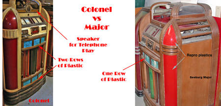 Difference between the Seeburg Colonel and Major