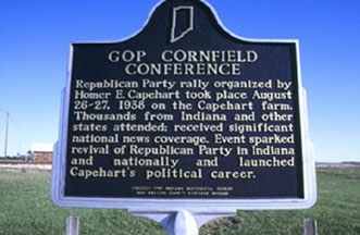 Historical Marker for the Capehart Cornfield Conference
