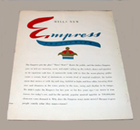 Brochure for the Mills Empress Jukebox