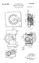 Early Jukebox Dial Selector Patent No. 2,233,026
