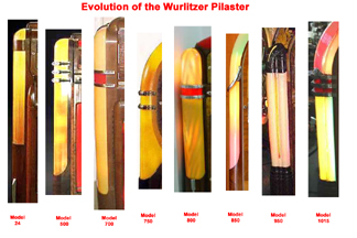 Evolution of the Pilaster in Wurlitzer Jukebox Models