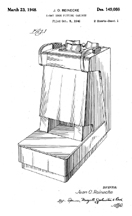The Infamous Foot X-Ray Machine, Patent D-149,088