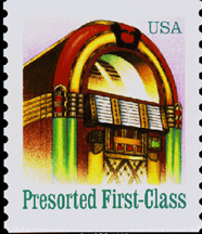 1995 US Postage Stamp featuring the Wurlitzer Model 1015 Jukebox