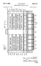 Paul Fuller Triplex Keyboard Patent No.  2,612,710 top