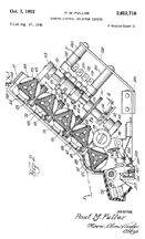 Paul Fuller Triplex Keyboard Patent No.  2,612,710 side