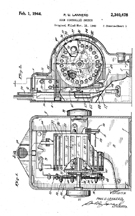 Lannerd Jukebox selector Control Mechanism, Patent No. 2,340,478