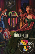 Rockola Model 1428 Brochure cover (Magic-Glo)