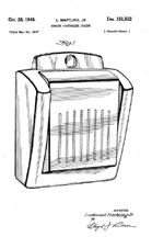 Jukebox, Martling Design Patent D-151,522