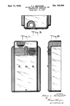 Receiver Cabinet, Meagher Design Patent D-150,998