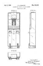 Vending Machine, Meagher Design Patent D-154,410