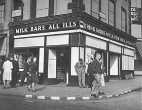 London Milk Bar, 1950s