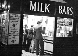 London Milk Bar 1940s