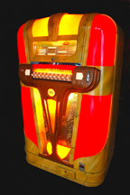 Mills Empress Jukebox - Red Scheme, lit