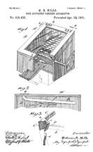 Mortimer Mills Original Vending Patent No. 450,336