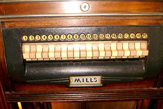 Mills Throne of Music Jukebox - Selector Keys
