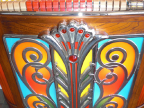 The Rockola Model 1426 Jukebox - grille detail