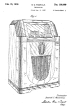 The Rock-Ola Monarch Jukebox Design patent D-108,494