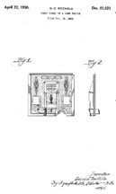 David Rockola Slot Machine Design Patent , No. D-81,021
