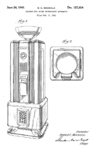 Rock-Ola Spectravox Jukebox Design Patent D-127,924