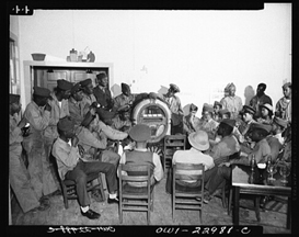 Wurlitzer Model 750 Jukebox in a segregated USO facility