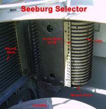 Photograph of Seeburg jukebox memory drum