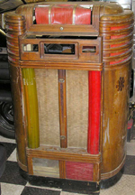 Unrestored Seeburg Crown Jukebox - Front