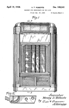 Seeburg Gem Jukebox, Design Patent D-109,341